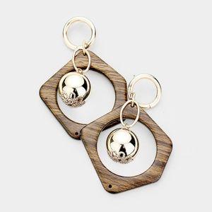 Abstract Wood Earrings